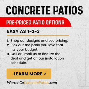 Concrete Patios Banner Design